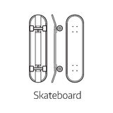Modern Skateboard Desk Stock Photos