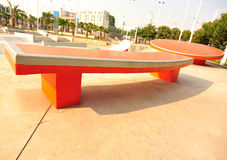 Modern skatepark Stock Photo