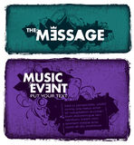 Modern sketchy style musical poster Stock Photo