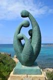Modern skulptur i Caesarea Maritima, Israel Arkivbilder