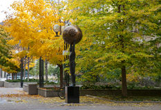 Modern skulptur i Toronto, Kanada Arkivfoto