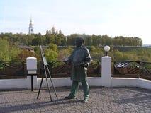 Modern skulptur i Vladimir royaltyfria foton