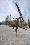 Modern skulptur, Lissabon, Portugal Fotografering för Bildbyråer