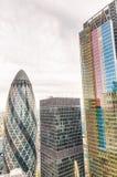 Modern skyline of City of London Royalty Free Stock Photography