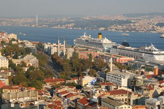 The modern skyline of Istanbul Royalty Free Stock Photography