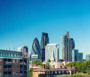 Modern skyline of London City Stock Image