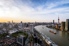 Modern skyline of shanghai Royalty Free Stock Image