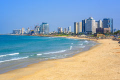 Modern skyline of Tel Aviv city, Israel Royalty Free Stock Images