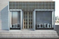 Modern skyltfönster med copyspace vektor illustrationer