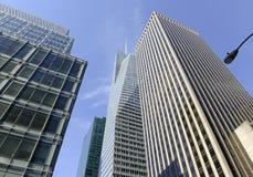Modern skyscraper against blue sky, New York City Stock Images