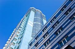 Modern skyscraper on blue sky background Stock Photography