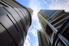 Modern Skyscraper  Building against blue sky. Stock Photo