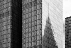 Modern Skyscraper Building. In Black And White Royalty Free Stock Images
