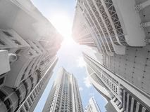 Free Modern Skyscraper Buildings, Looking Up In Downtown City Royalty Free Stock Images - 120748149