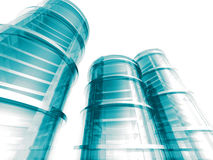 Modern Skyscraper Buildings Steel Glass Design. 3d Render Illustration Royalty Free Stock Photo
