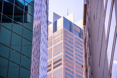 Modern skyscraper in business district Royalty Free Stock Images