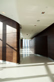 Modern skyscraper corridor interior Royalty Free Stock Photo