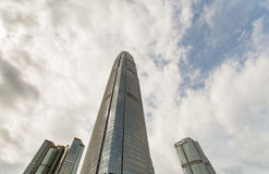 Modern skyscraper IFC 2 building Landscape in Hong Kong. 2016 Royalty Free Stock Images