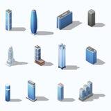 Modern skyscraper isometric building set Stock Photo