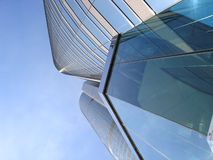 Modern skyscraper low view angle Royalty Free Stock Images