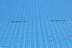 Modern skyscraper made of glass  close up Royalty Free Stock Photos