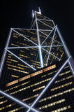 Modern skyscraper at night royalty free stock photography