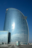 Modern skyscraper at sea shore in Barcelona Stock Photography