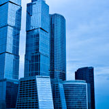 Modern skyscrapers. Of business center Royalty Free Stock Photo