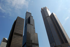 Modern Skyscrapers. Picture of several very modern skyscrapers in Chicago Royalty Free Stock Photos
