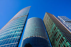 Modern skyscrapers. Skyscrapers of the International Business Centre, Moscow Royalty Free Stock Photos