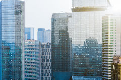 Modern skyscrapers against sky in China Stock Photo