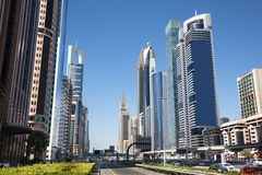 Sheikh Zayed Road royalty free stock photography