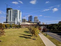 Downtown Austin TX. Modern skyscrapers in Austin Texas Royalty Free Stock Image