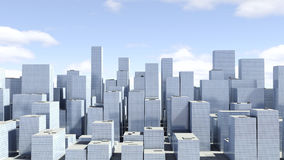 Modern skyscrapers on a background of blue sky Royalty Free Stock Photo