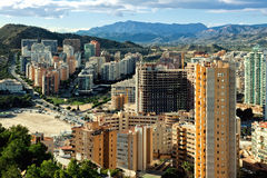 Modern skyscrapers of Benidorm Royalty Free Stock Photos