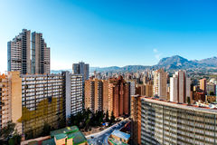 Modern skyscrapers of Benidorm Stock Images