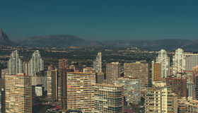 Modern skyscrapers of Benidorm Royalty Free Stock Image