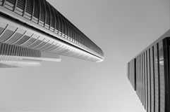 Modern skyscrapers in black and white Royalty Free Stock Photography