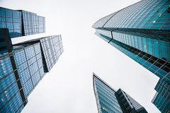 Modern skyscrapers of the business center Royalty Free Stock Photo