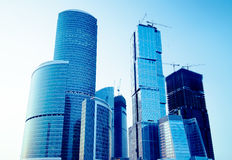 Modern skyscrapers business centre Royalty Free Stock Image
