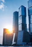 Modern skyscrapers business centre in Moscow Royalty Free Stock Images