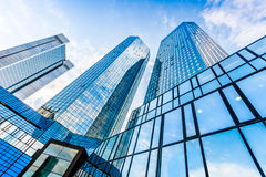 Modern skyscrapers in business district Stock Photography