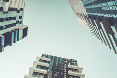 Modern skyscrapers and clear sky Royalty Free Stock Photos