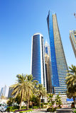 The modern skyscrapers in Dubai city Royalty Free Stock Image