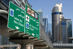 Modern skyscrapers, Dubai Marina, Dubai Royalty Free Stock Images