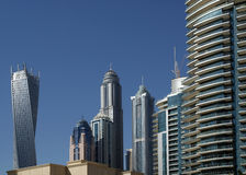 Modern skyscrapers, Dubai Marina, Dubai, United Arab Emirates Royalty Free Stock Images