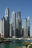 Modern skyscrapers, Dubai Marina, Dubai, United Arab Emirates Stock Photo