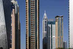 Modern skyscrapers, Dubai Marina, Dubai, United Arab Emirates Royalty Free Stock Image