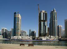 Modern skyscrapers, Dubai Marina, Dubai, United Arab Emirates Stock Photos