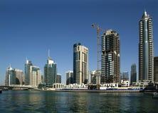 Modern skyscrapers, Dubai Marina, Dubai, United Arab Emirates Stock Image